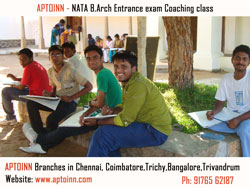 NATA b.arch entrance exam coaching in anna nagar, nata coaching classes in tambaram, nata coaching in t.nagar, nata coaching in royapettah aptoinn 9176301689 1